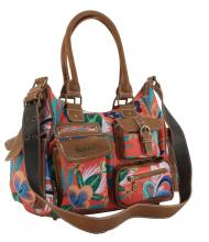 Desigual Umhängetasche Liana London Medium rot Blumen