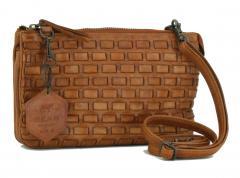 f4ba84a088cef Flechttasche Bear Design New Woven Braun Vintage Clutch