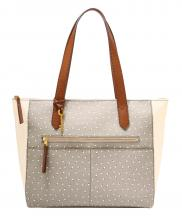 Fossil Fiona EW Tote Shoppertasche Punkte Grey White