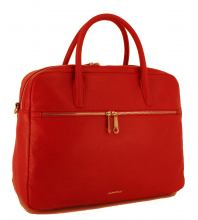 GiGi Fratelli Aktentasche Leder Damen Red Rot