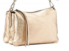 Gianni Chiarini Three Champagner metallic Ledertasche gold