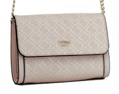 Guess Crossovertasche Coast to Coast geprägt Stone rosa
