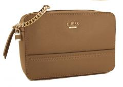 Guess Crossovertasche Devyn Taupe Gold Kette