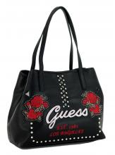 Guess Shopper Vikky Black Multi Nieten Rosen schwarz