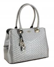 Guess Shoppertasche Halley Synthetik Ice Silber