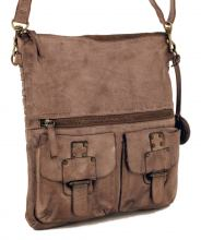 Harbour 2nd Philipine Ledertasche Webmuster Stone Grey