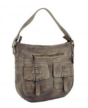 Harbour2nd Ledertasche Ellida Vintage stone grey grau