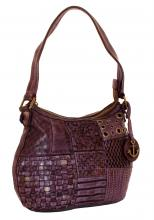 Harbour2nd Malina Ledertasche gestanzt Purple Lila
