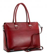 Laptoptasche Claudio Ferrici Red Polsterung Business Leder