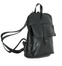 Lederrucksack Illaria Black The Hunting People schwarz Vintage