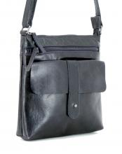 Ledertasche Anita dunkelblau Vintage The Hunting People Navy