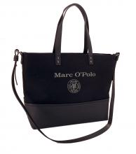 Marc O'Polo Shoppertasche Stoff Canvas Aufdruck Black