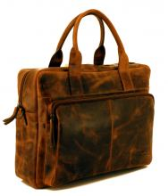 Messenger Bear Design Leder braun