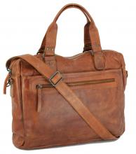 Messengerbag Bear Bags Cognac braun Laptopfach