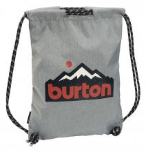 Sportbeutel Burton Cinch Bag grau Logoprint Grey Heather