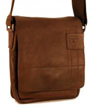Strellson Messenger Ledertasche XSVF Upminster Dark Brown