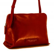 The Bridge Crossover Tasche Leder Rot