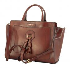 The Bridge Handtasche Quasten Leder braun
