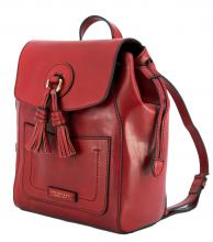 The Bridge Leder Rucksack Quasten Johannisbeere rot