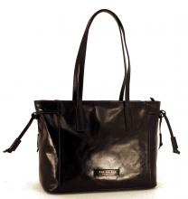 The Bridge Leder-Shopper Passpartout Dona Schwarz