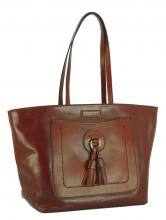 The Bridge Shoppertasche  Leder braun Quasten