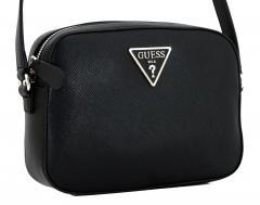 ac2f768f7178b Umhängetasche Guess Carys schwarz strukturiert Logo Top Zip