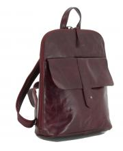 dunkelroter Cityrucksack Vintage The Hunting People Illaria Red