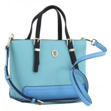de6f59bb48864 kleine Handtasche Tommy Hilfiger Honey Small Tote türkis blau