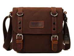 troop Crossovertasche Canvas Classic Leder Braun
