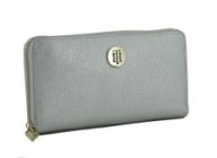 Tommy Hilfiger Silver TH Core LRG ZA Metallic Brieftasche