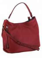Gianni Chiarini Schultertasche Twin Ceralacca Rindleder rot