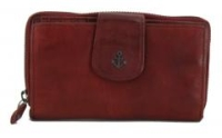 Harbour 2nd Geldtasche dunkelrot Zip Linn Red Smooth Plain