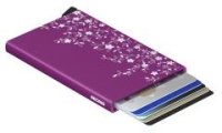 Cardprotector Provence Violet Blumengravur lila RFID-Schutz