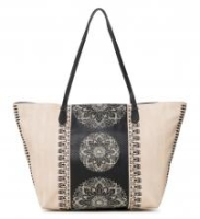 Capri Zipper Shopper Desigual Lady beige Weboptik Stickerei