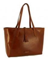 The Bridge Shopper Ledertasche Braun Cognac Fransen
